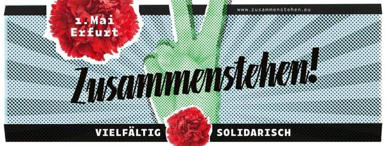 1. Mai Erfurt: Höcke und die AfD in die Zange nehmen