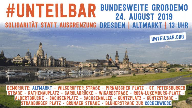 Ablauf und Demoroute #unteilbar-Demo Dresden