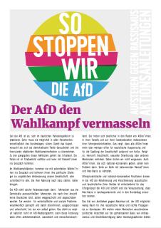 Aktionsanleitung: Der AfD den Wahlkampf vermasseln