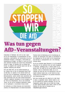 Aktionsanleitung: Was tun gegen AfD-Veranstaltungen?