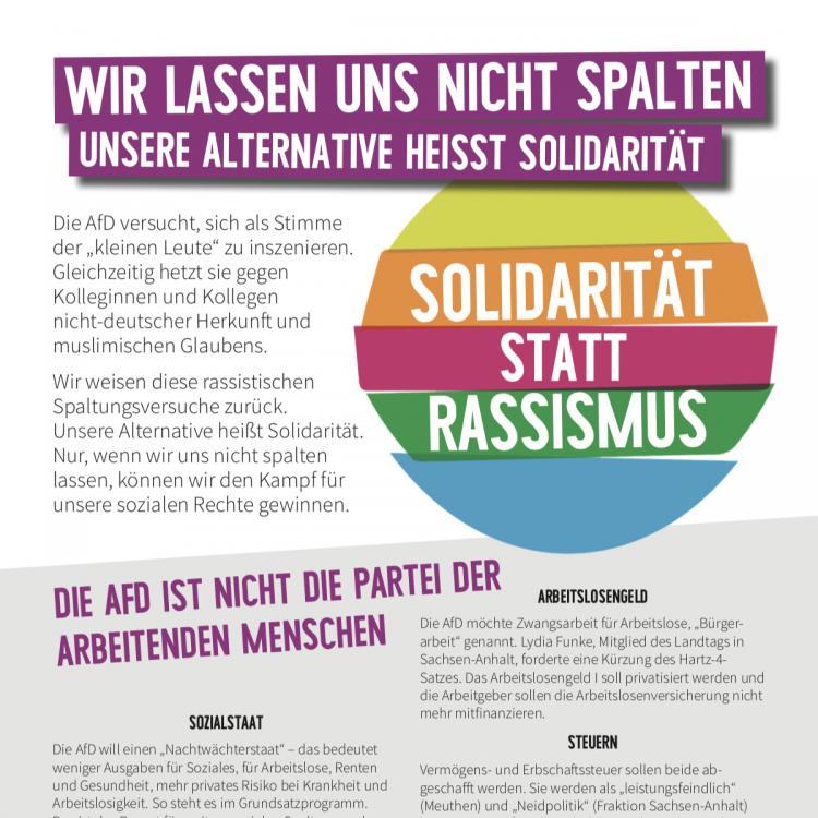 Neue Flyer: Soziale Frage & Gewerkschaften